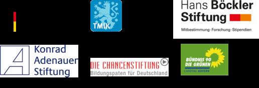 Behörden, Stiftungen & Parteien Logos: Bundesministerium für Familie, Senioren, Frauen und Jugend; Bündnis die Grünen; Konrad Adenauer Stiftung und Die Chancenstiftung